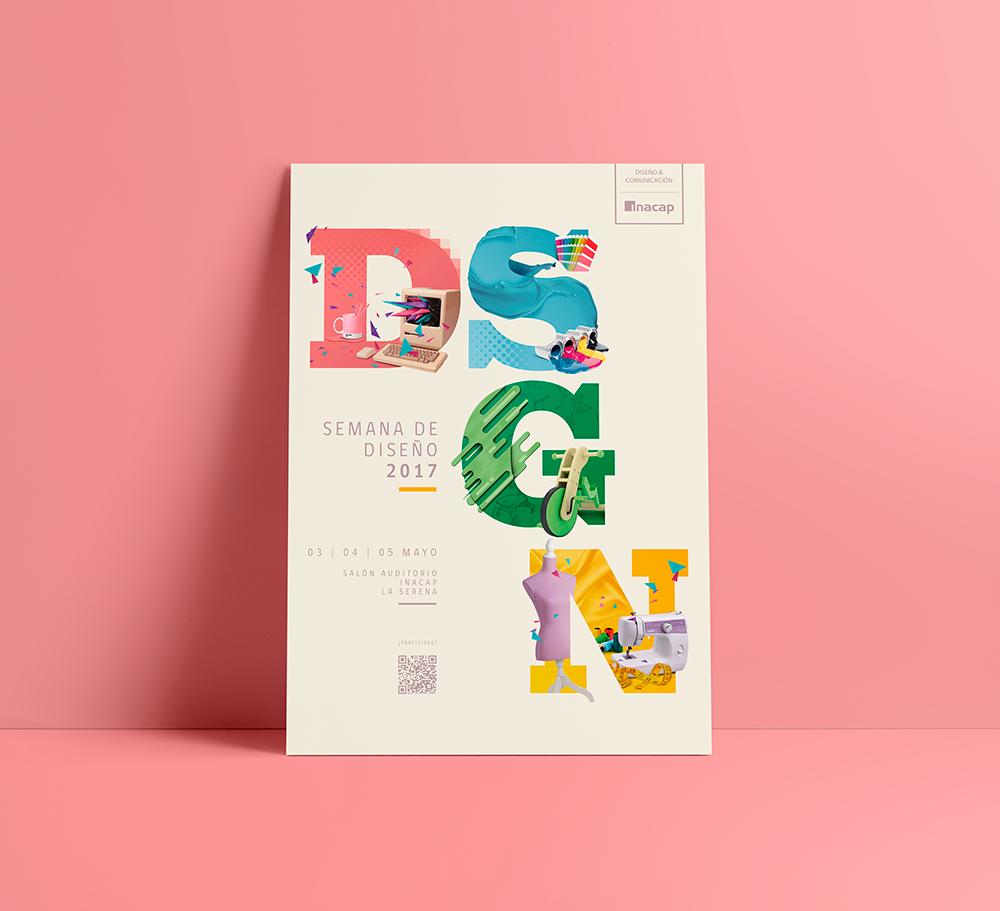 Diseño afiche y material promocional